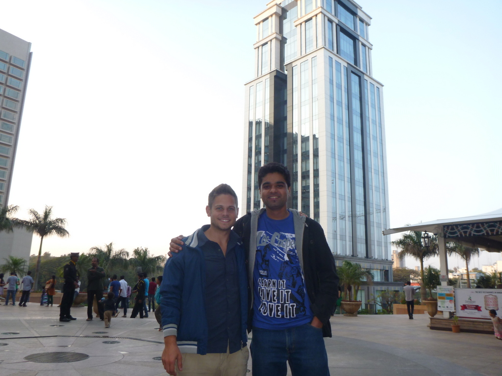 Shalabh and Dan at UB City